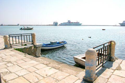 Town: Fishing boats. Zakynthos Town port.