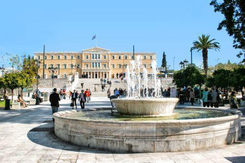 Syntagma: The fountain of Syntagma square