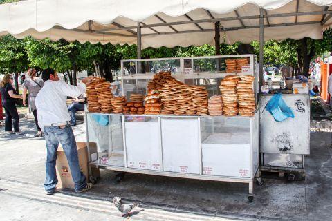 Syntagma: A street vendor