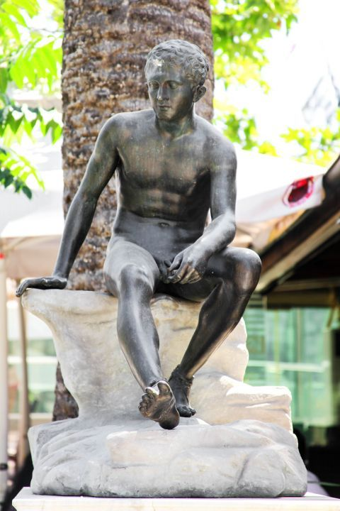 Syntagma: A bronze statue
