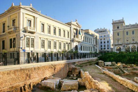 Omonia: Classical antiquities in Kotzia square