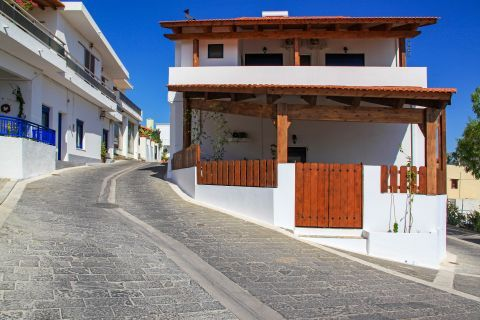 Theologos: Impressive, well maintained houses.