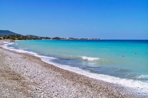 Ixia: Turquoise waters and soft Pebbles. The beauty of Ixia beach.