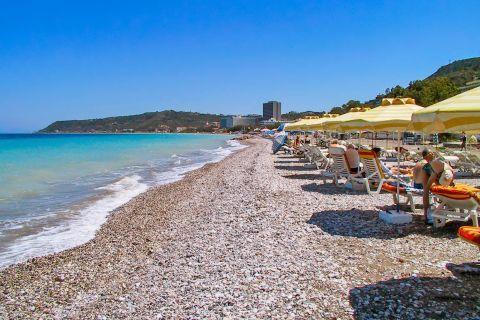 Ixia: An organized spot on Ixia beach.