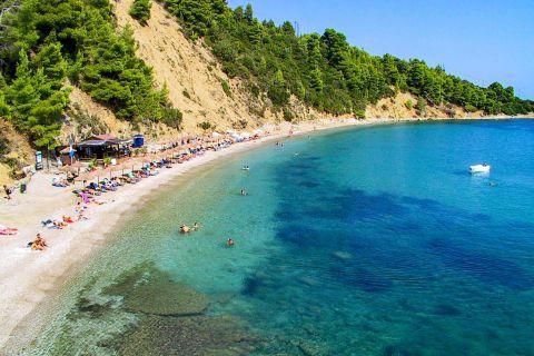 Stafilos: Panoramic view of Stafilos beach.