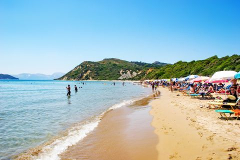 Kalamaki: An organized beach with soft sand and clear waters.