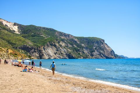 Kalamaki: Mountainous hills with green spots are found on the edges of this beautiful beach.