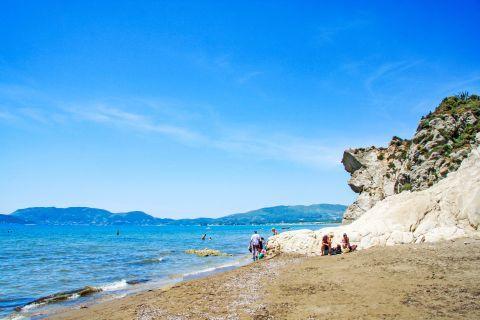 Kalamaki: Rock formations on Kalamaki beach.