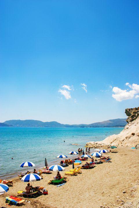 Kalamaki: An organized beach.