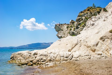 Kalamaki: A cliff on the seaside.