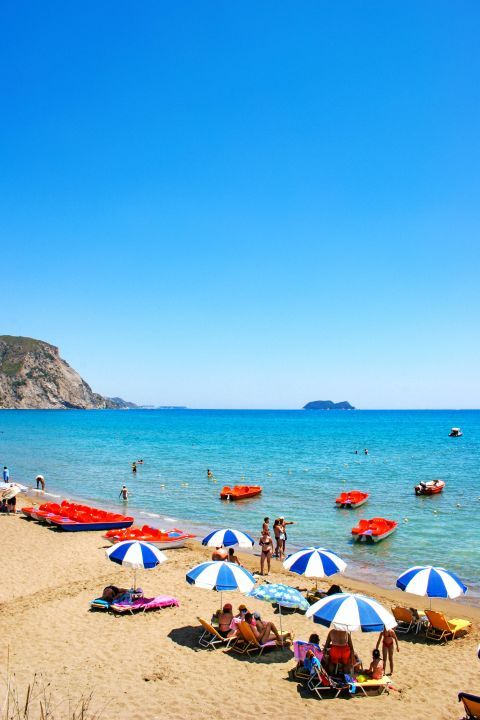 Kalamaki: A popular, family friendly beach.