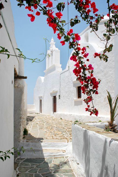 Chora: A local, whitewashed church