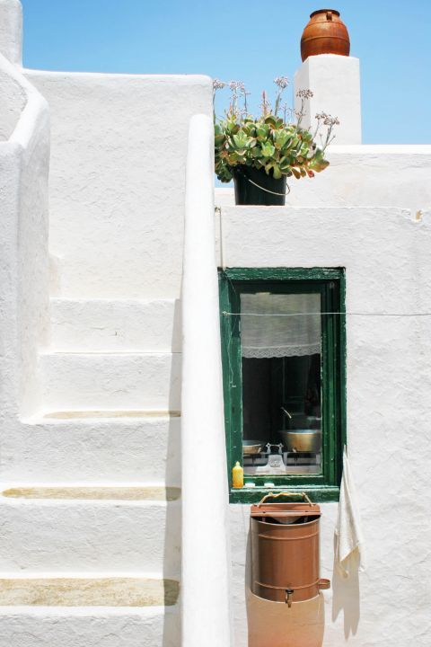 Chora: The small windows are a characteristic of all houses in Chora.