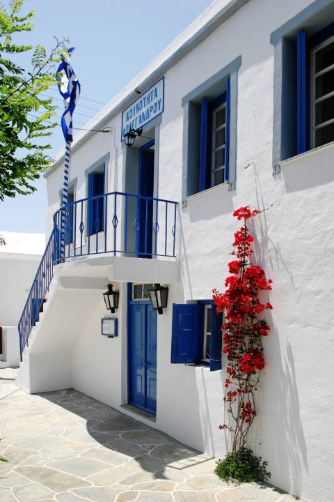 Chora: The central building of the Municipality of Folegandros.