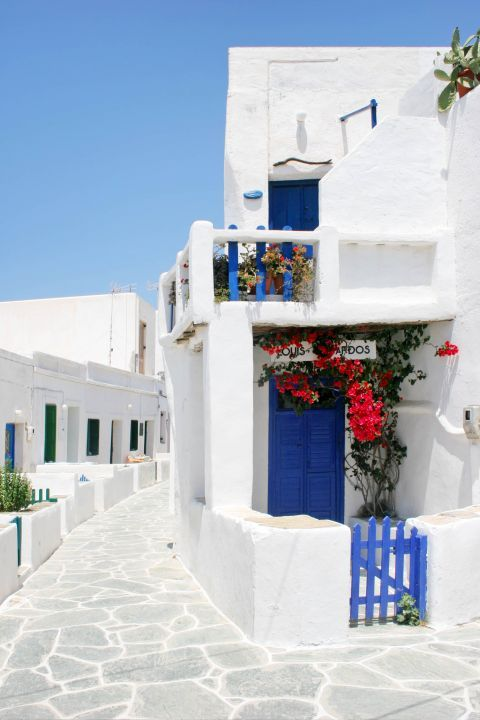 Chora: All houses around Cyclades stand out for their white color.
