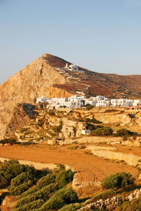 Chora: The church of Panagia stands on the highest spot of the hill, offering a wonderful view over the surrounding area.