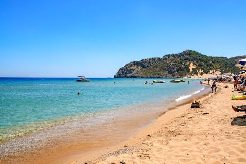 Tsambika: Soft sand and clean waters, Tsambika beach.