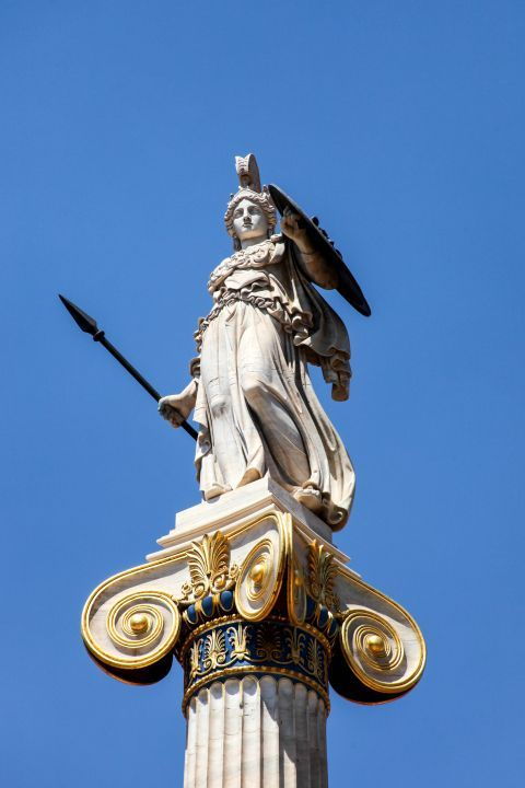 Panepistimiou Ave: Statue Of Athena at Academy of Athens