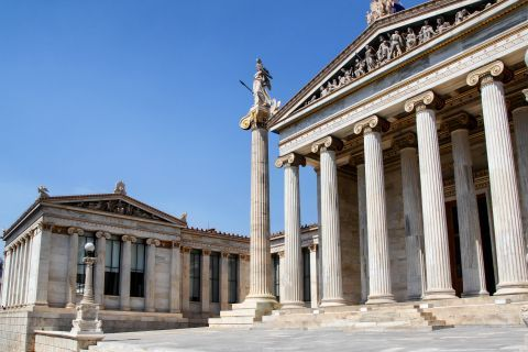 Panepistimiou Ave: The classical architecture of the Academy of Athens building