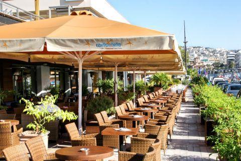 Piraeus: A cafe overlooking the Bay of Zea