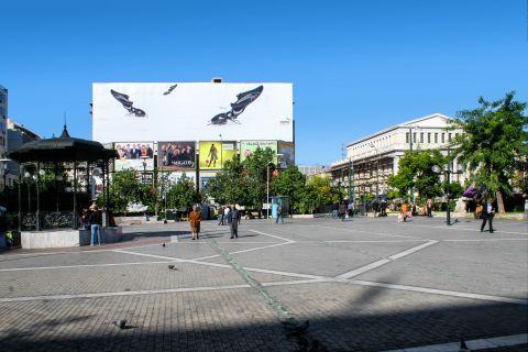 Piraeus: A central square at Pasalimani
