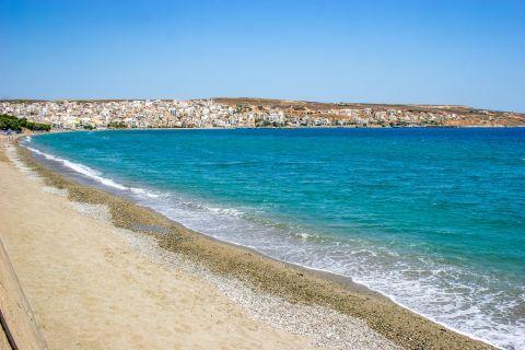 Sitia: Sandy beach and azure waters.
