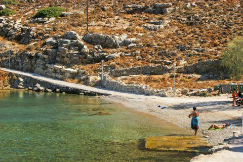 Gialos: Turquoise waters on Gialos beach.
