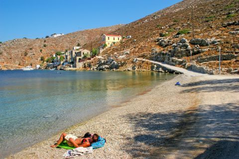 Gialos: Moments of tranquility on Gialos beach.