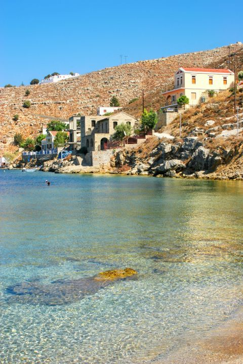 Gialos: Beautiful mansions, overlooking the sea.
