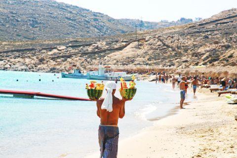Elia: The fully organized Elia beach offers a wide range of beach bars