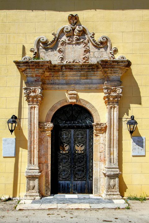 Volimes: The impressive entrance of a local church.