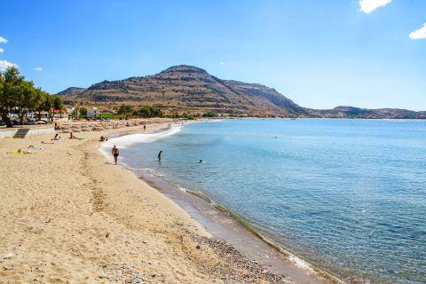 Lardos: View of Lardos beach.
