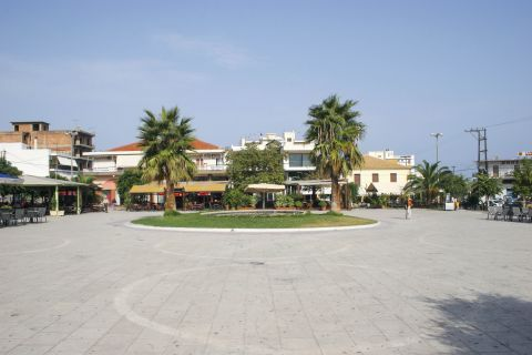Town: A central square.