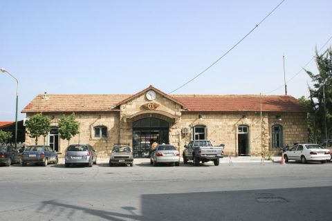 Town: Ose railway station in Kyparissia.