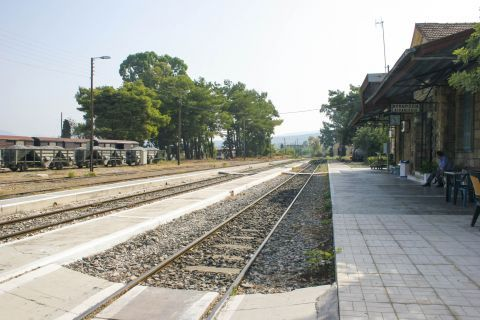 Town: At the railway station of Kyparissia.