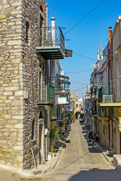 Pyrgi: A picturesque street in Pyrgi.