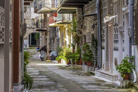 Pyrgi: The narrow streets of Pyrgi