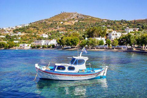 Agia Marina: A fishing boat.