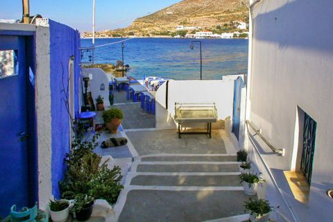 Agia Marina: A picturesque alley.