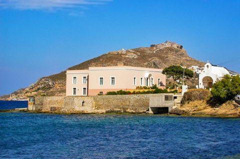 Agia Marina: Architecture in Agia Marina, Leros.
