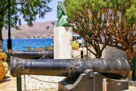 Agia Marina: A canon at a central spot in Agia Marina.