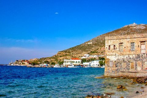 Agia Marina: An old mansion by the sea.