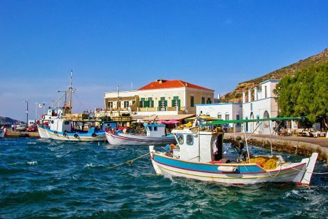 Agia Marina: Fishing boats.