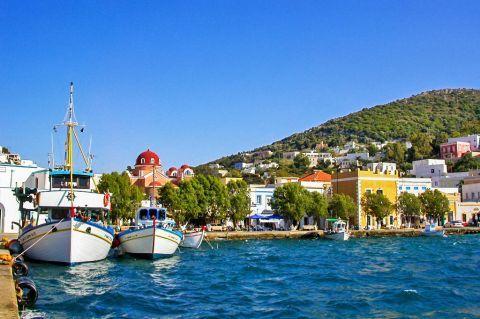 Agia Marina: Fishing boats on the harbor of Agia Marina.