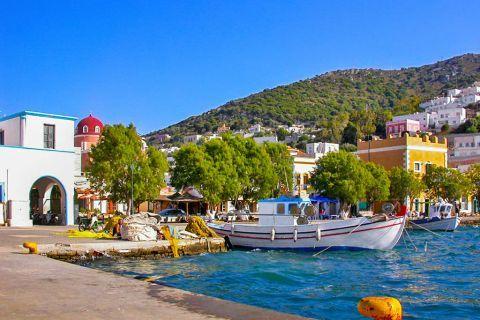 Agia Marina: At the small harbor of Agia Marina.