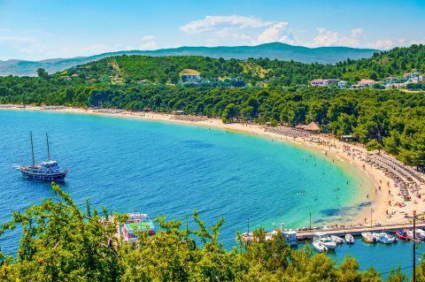 Koukounaries: Koukounaries is the most popular beach on Skiathos