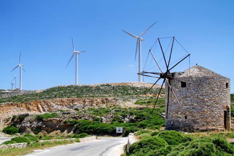 Koronos: A windmill and an Aeolic Energy Park