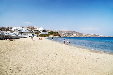 The sandy beach of Megali Ammos
