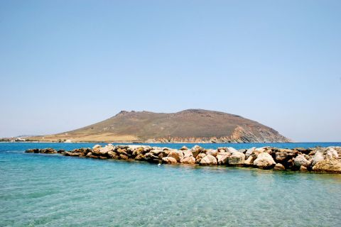 Molos: Rock formations and blue waters