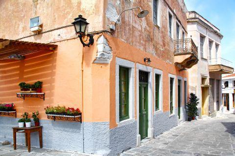 Halki: A colorful building